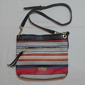 Liz Claiborne Multi Colored Strip Shoulder Bag